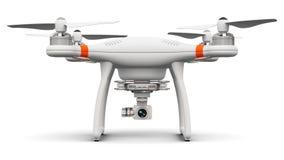 Quadcopterhommel met 4K video en fotocamera Stock Afbeelding