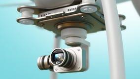 Quadcopterhommel met 4K videocamera Stock Afbeelding