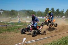 Quadcross chase Stock Image
