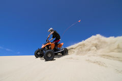 Quadding in sand dunes Royalty Free Stock Photography