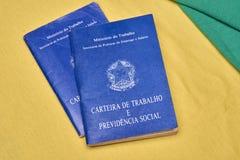 Quaderni o lavoro brasiliani del documento Immagine Stock Libera da Diritti