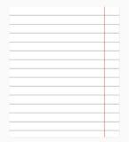 Quaderno in un righello Illustrazione di vettore Immagine Stock