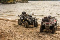 Quading par le lac Image stock