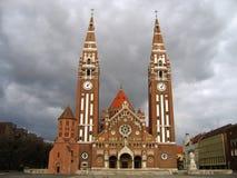 Quadrado 06 dos DOM, Szeged, Hungria fotografia de stock