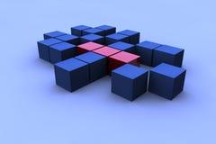 quadrado 3d abstrato Imagens de Stock