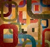 Quadrado abstrato do grunge no fundo marrom. Vetor ilustração stock