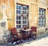 Quadrado antigo na cidade velha Tallinn Imagem de Stock Royalty Free