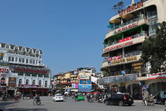 Quadrado ao lado do lago Hoan Kiem Imagens de Stock Royalty Free