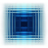 Quadrado azul Fotos de Stock