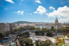 Quadrado Barcelona de Catalonia Fotografia de Stock Royalty Free