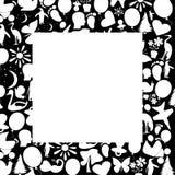 Quadrado branco Imagem de Stock