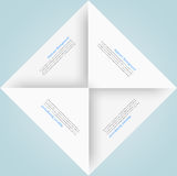 Quadrado branco Origâmi de papel Foto de Stock