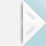 Quadrado branco Origâmi de papel Imagem de Stock