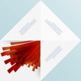 Quadrado branco Origâmi e explosão de papel Fotos de Stock Royalty Free