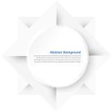 Quadrado branco Papel e origâmi Fotografia de Stock Royalty Free