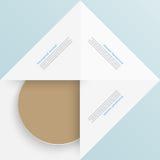 Quadrado branco Papel e origâmi Foto de Stock Royalty Free