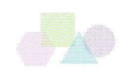 Quadrado, círculo, triângulo e hexágono na reticulação fotos de stock royalty free