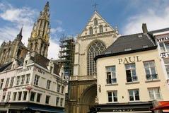 Quadrado central de Anvers Foto de Stock Royalty Free