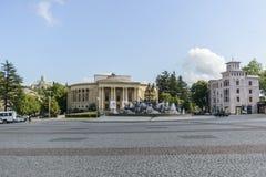 Quadrado central de Kutaisi, Geórgia imagens de stock