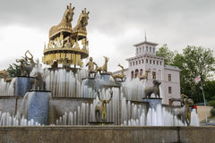 Quadrado central de Kutaisi, Geórgia fotos de stock royalty free