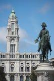 Quadrado central de Porto imagens de stock royalty free