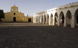 Quadrado central e chuch em Cachi Imagens de Stock Royalty Free