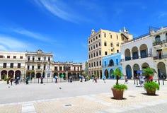 Quadrado central em Havana, Cuba Fotos de Stock Royalty Free