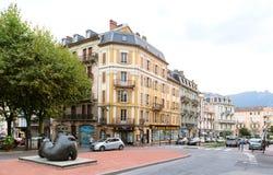 quadrado central no lugar entury Aix0LEs-Bains de du Revard de 21 escritórios Fotografia de Stock