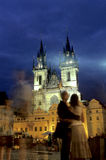 Quadrado central Praga, república checa Imagens de Stock Royalty Free