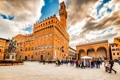 Quadrado da autoridade em Florença foto de stock