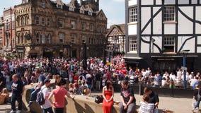 Quadrado da balbúrdia, Manchester Reino Unido imagens de stock royalty free