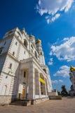 Quadrado da catedral do Kremlin de Moscou em Rússia Fotografia de Stock