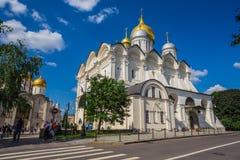 Quadrado da catedral do Kremlin de Moscou em Rússia Imagem de Stock Royalty Free