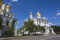 Quadrado da catedral do Kremlin de Moscou em Rússia Foto de Stock Royalty Free