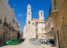 Quadrado da catedral. Giovinazzo. Apulia. Fotografia de Stock