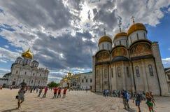 Quadrado da catedral - Moscou, Rússia imagem de stock