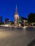 Quadrado da catedral no crepúsculo Imagens de Stock