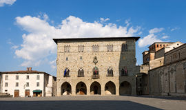 Quadrado da catedral - Pistoia Toscânia Itália foto de stock