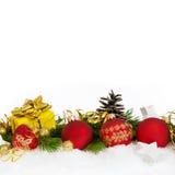 Quadrado da decoração do Natal mais baixo Imagens de Stock