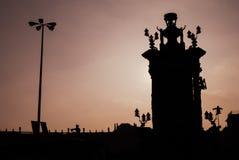 Quadrado da Espanha, Barcelona Fotografia de Stock