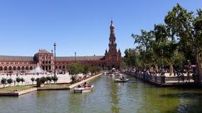 Quadrado da Espanha de Sevilha, Espanha fotografia de stock