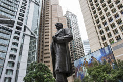 Quadrado da estátua em Hong Kong Fotos de Stock
