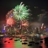 Quadrado da extremidade do fogo-de-artifício 2013 de Sy Fotografia de Stock Royalty Free