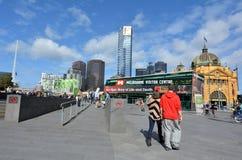 Quadrado da federação - Melbourne Fotografia de Stock Royalty Free