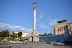 Quadrado da independência em Kiev Fotografia de Stock
