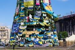 Quadrado da independência em Kiev durante uma demonstração contra a ditadura em Ucrânia Fotos de Stock