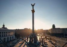 Quadrado da independência em Kiev fotos de stock royalty free
