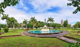Quadrado da independência em St Kitts de Basseterre fotos de stock royalty free
