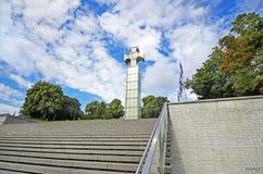 Quadrado da liberdade - praça da cidade em Tallinn, Estônia Imagem de Stock Royalty Free