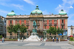 Quadrado da república de Belgrado, Sérvia Fotos de Stock